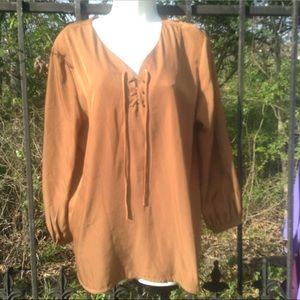Joan Vass  lace up blouse